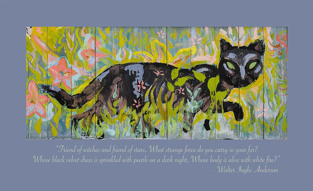Little Room Evening Cat 11 x17 Mini Poster