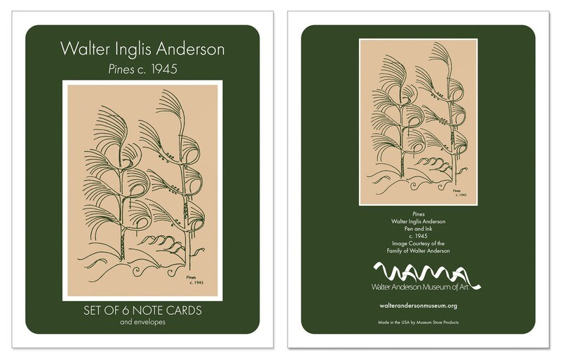 Pines Boxed Note Cards Set of 6