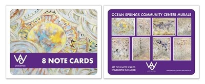 Ocean Springs Community Center Murals Boxed Note Cards Set of 8