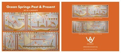 4pc Magnet Set Casting Nets & Flounderers Walter Anderson PWAP Murals