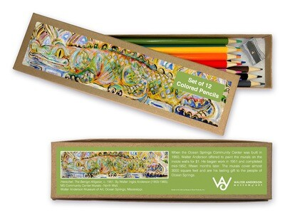 WAMA Herschel the Benign Alligator Colored Pencil Set