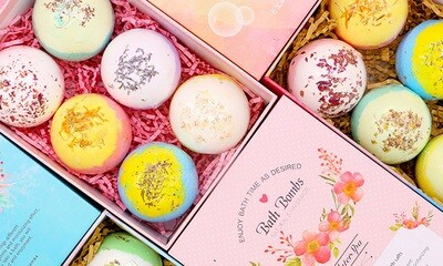 AOLEGA Essential Oil Bath Bomb Gift Set - 6 Pcs/pack
