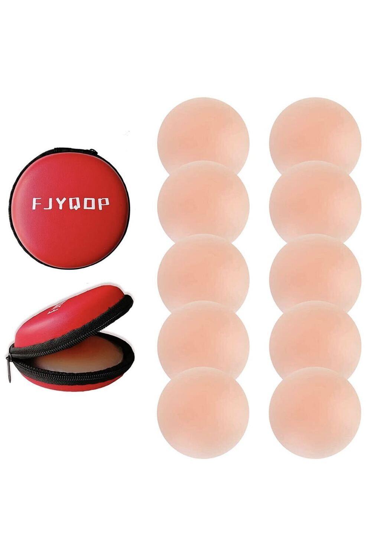 5 pairs Women's Reusable Adhesive Pasties Nipple-less Covers
