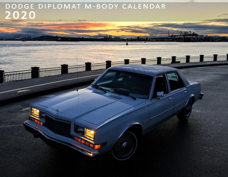 ***BACKSTOCK***Dodge Diplomat M-Body Calendar 2020