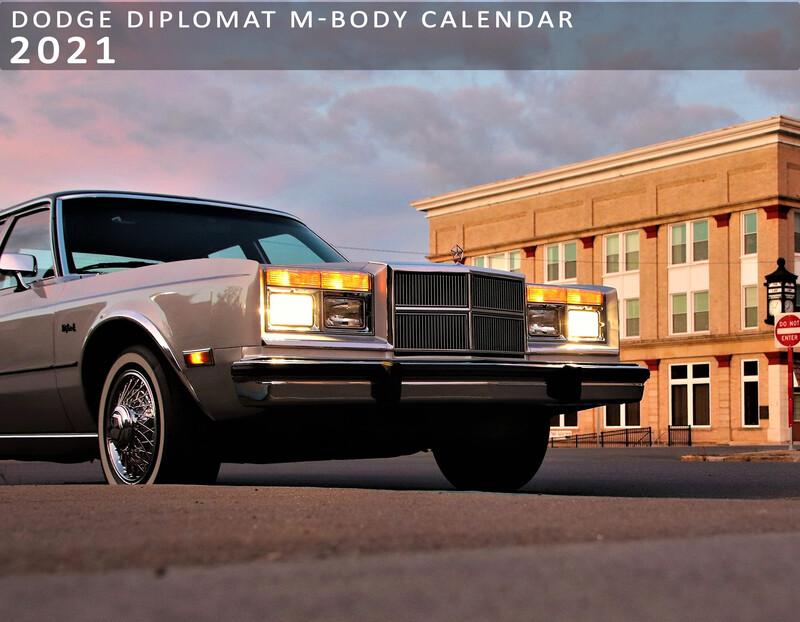 Dodge Diplomat M-Body Calendar 2021