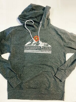 CrossFit Clout (mountains) heather grey hoodie