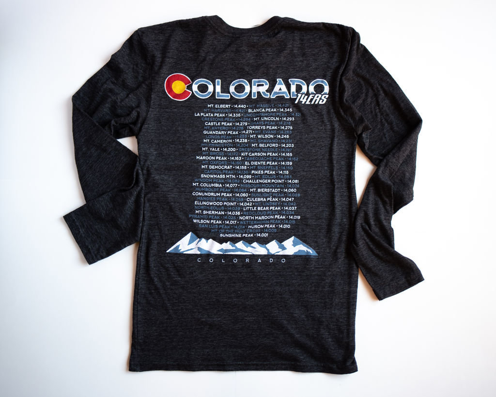 Colorado BACK - 14ers (Black)