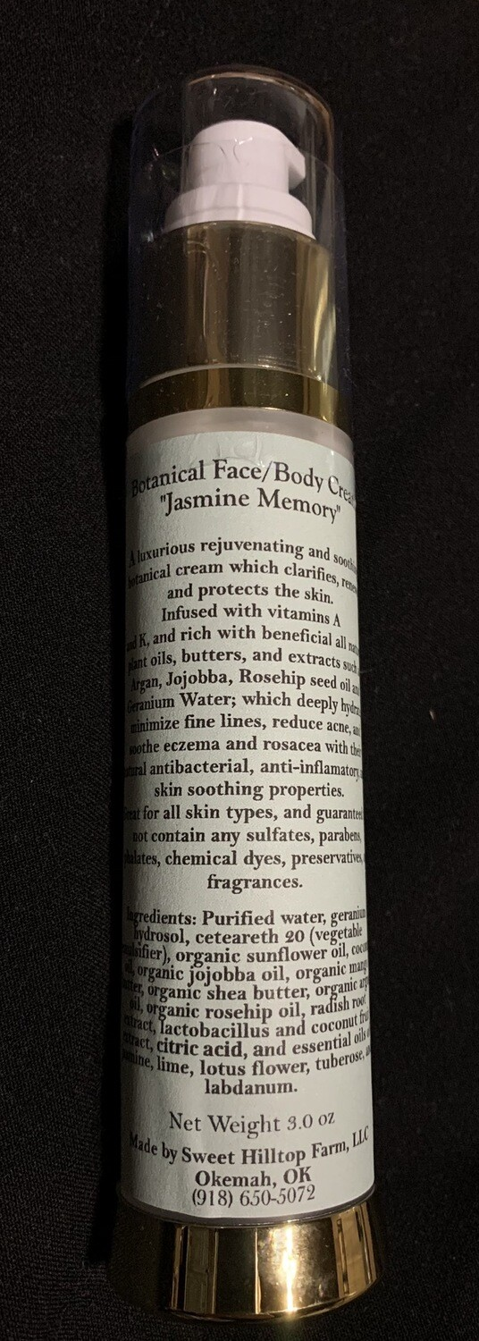 All Natural! Botanical Jasmine Face Cream