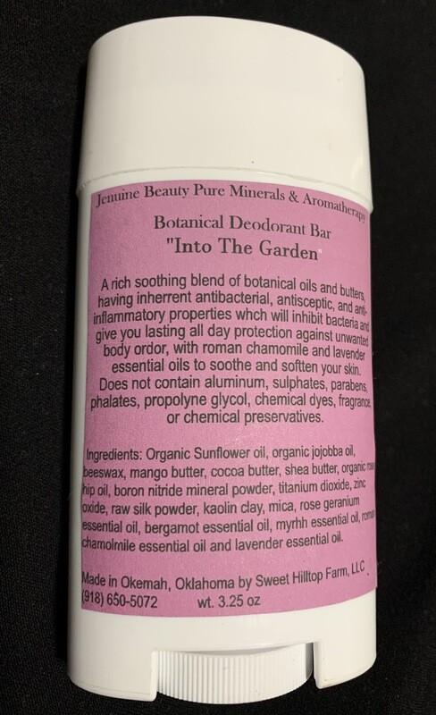 "Botanical Deodorant Bar ""Into The Garden"""