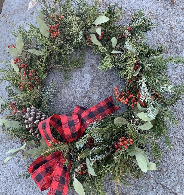 Custom Evergreen Christmas Wreaths