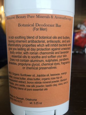 Botanical Deodorant Bar (For Men)