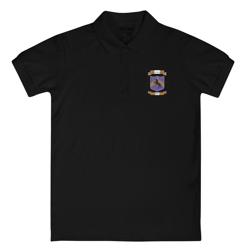 Embroidered Women's Polo Shirt - Donnie D's Spices Crest Logo