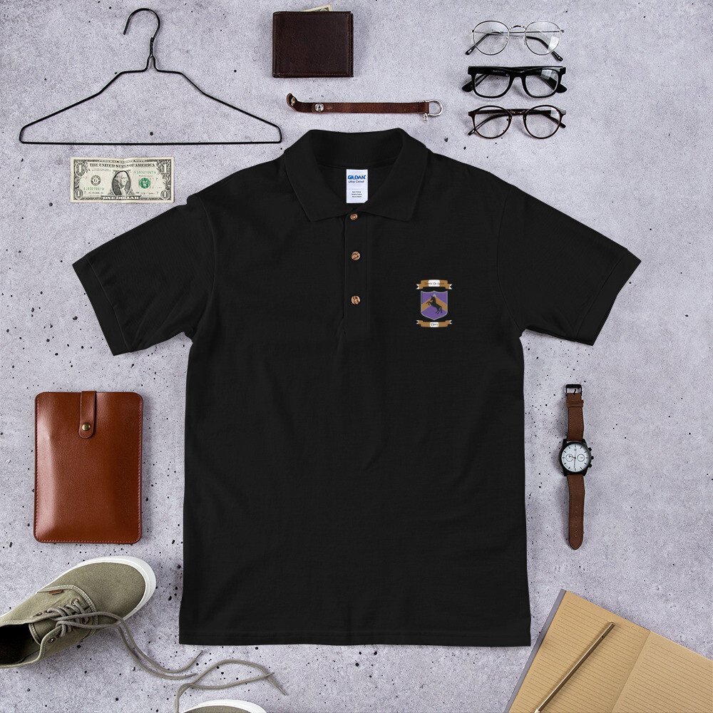 Embroidered Polo Shirt - Donnie D's Spices Crest Logo