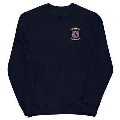 Unisex eco sweatshirt - Donnie D's Spices Crest Logo