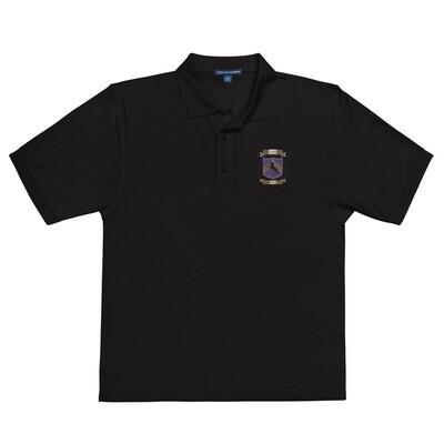 Men's Premium Polo - Donnie D's Spices Crest Logo