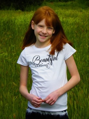 Beautiful -ALM Magazine Kids Fitted T-shirt