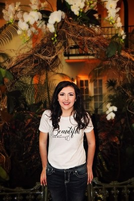 Beautiful-ALM Magazine Ladies Fitted T-shirt