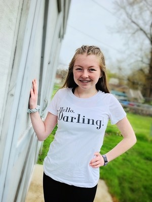 Hello, Darling!-ALM Magazine Ladies Fitted T-shirt