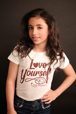 Love Yourself-ALM Magazine Kids Fitted T-shirt
