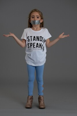 Stand Up Speak Up- Kids Fitted T-shirt