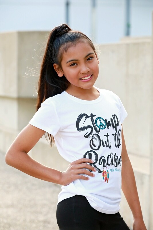 Stomp Out the Racism-ALM Magazine Kids Fitted T-shirt