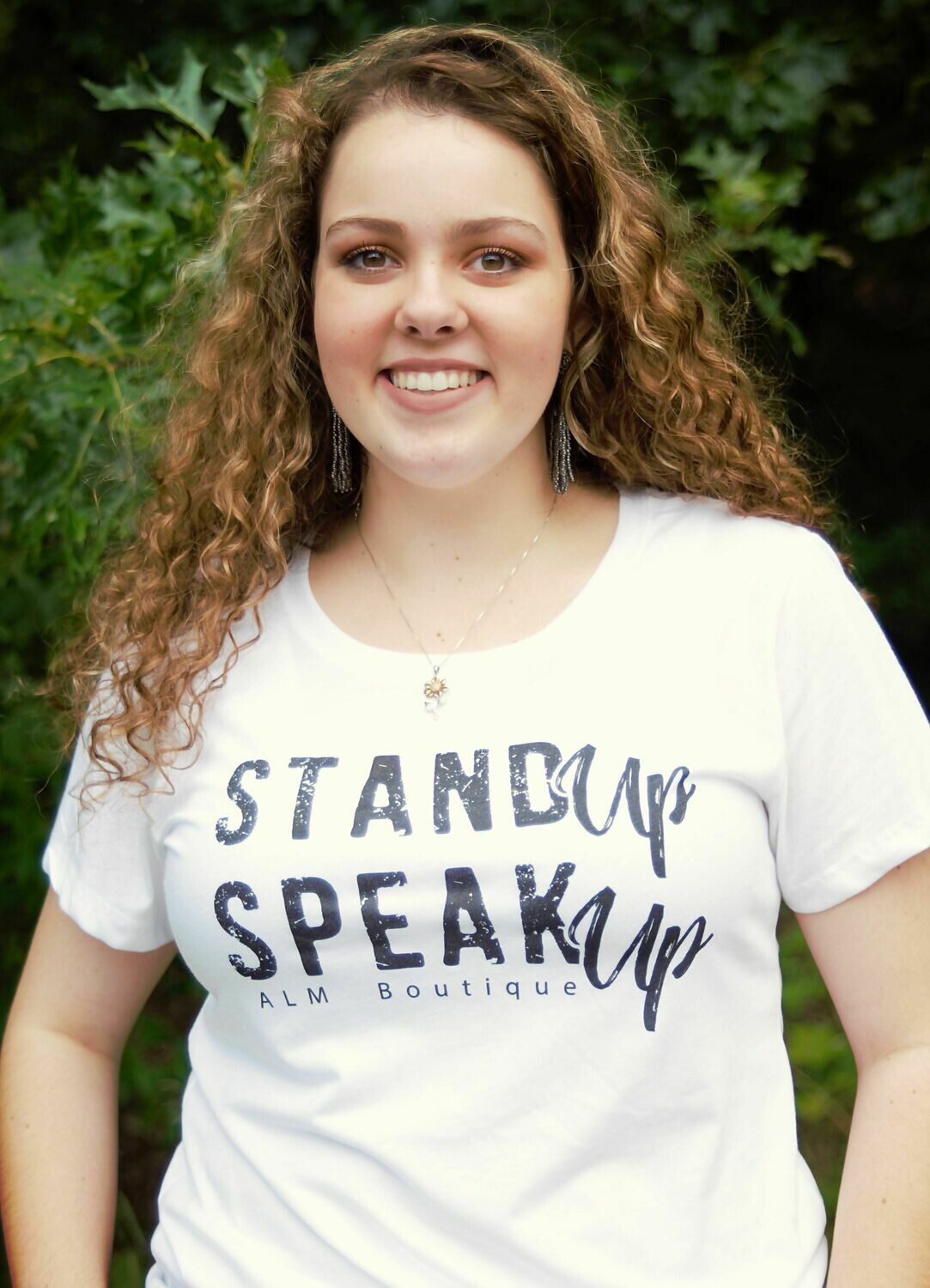 Stand Up Speak Up- Ladies Fitted T-shirt