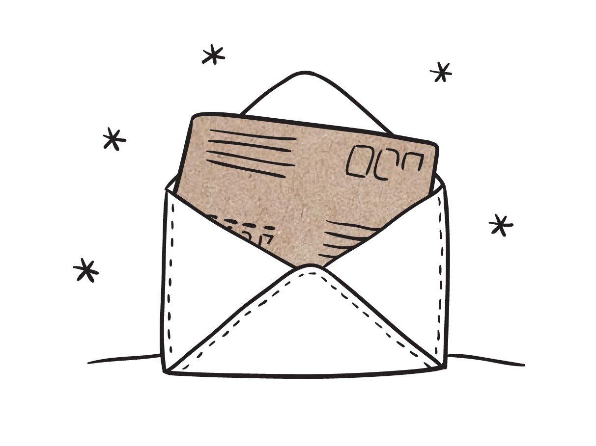 Внешний конверт. Отправка письма на иной, отличный от получателя адрес.