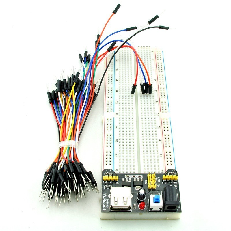 Kit Breadboard MB102 + Sursa + Fire dupont