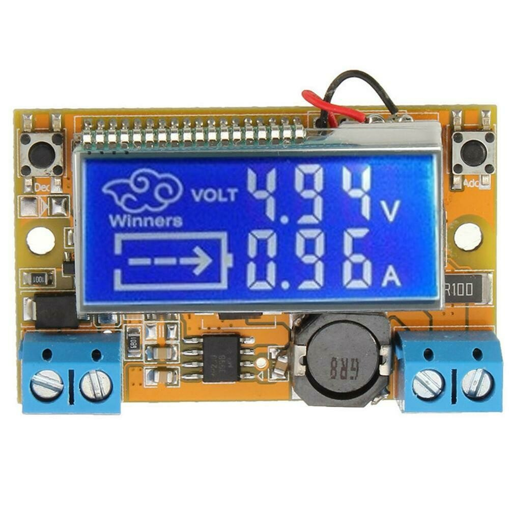Modul coborator tensiune cu LCD, reglabil 0-16V