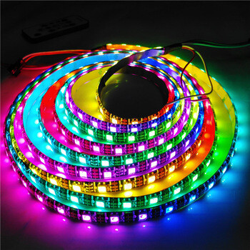 Banda LED adresabila, RGB, WS2812, 60led/m, IP65, 10cm