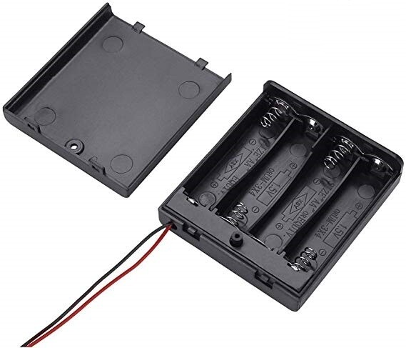 Suport 4 baterii AA cu capac si intrerupator