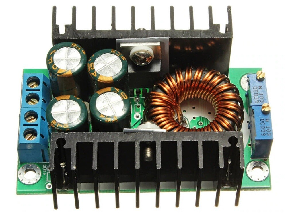 Modul sursa coborator tensiune, reglabil, 300W, 8A,