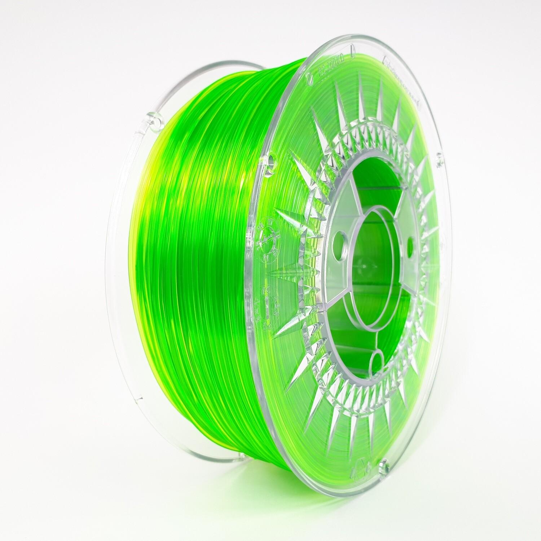 Filament Devil Design PET-G, 1Kg, Verde Transparent
