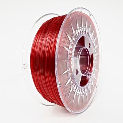 Filament Devil Design PET-G, 1Kg, Rosu Rubin Transparent, Ruby Rubin