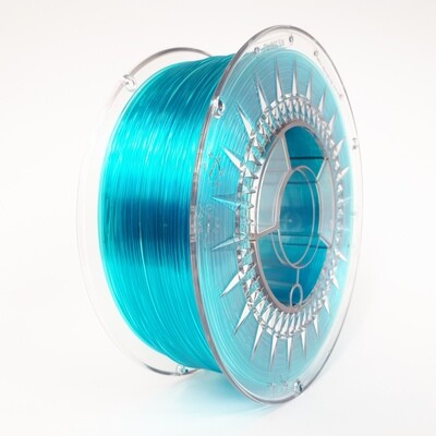 Filament Devil Design PET-G, 1Kg, Albastru Transparent