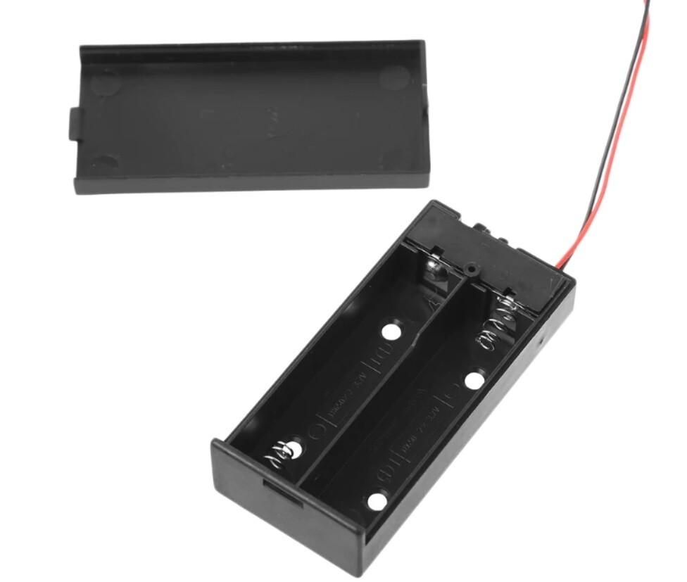 Suport baterie 18650 2S cu capac si intrerupator