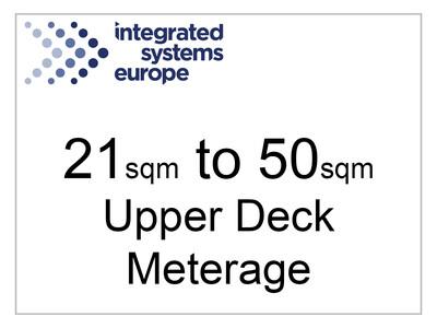 21sqm - 50sqm Upper Deck Meterage