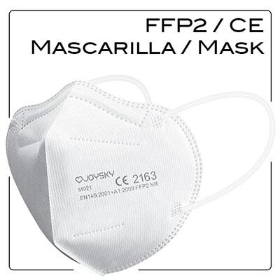2 x FFP2 CE Disposable Respirator Protective Face Masks / Mascarillas