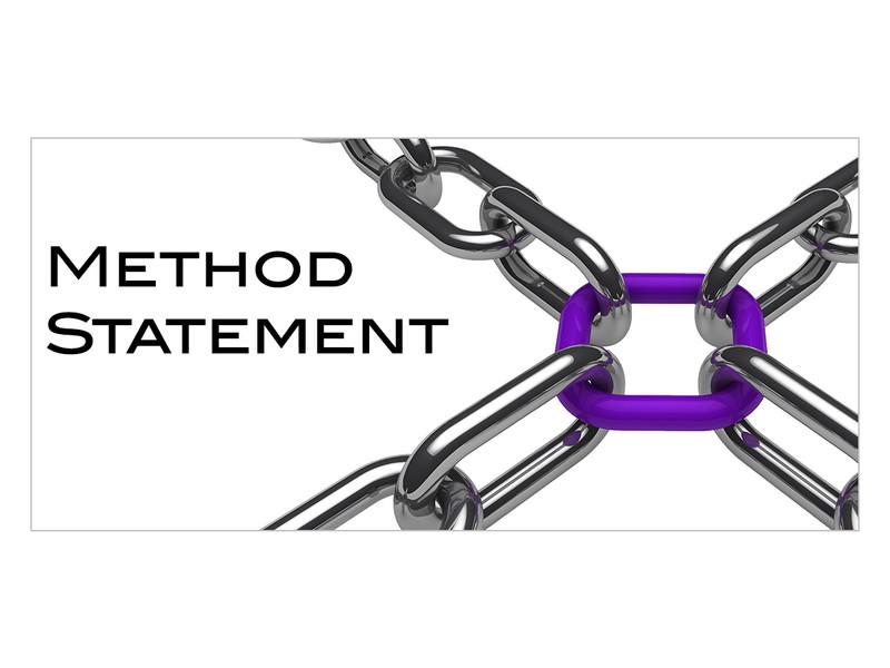 Method Statement - rate per sqm
