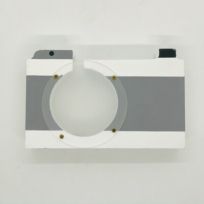 Wooden camera money box - Grey
