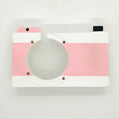 Wooden camera money box - Pink