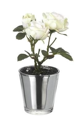 Potted Artificial Cream Rose