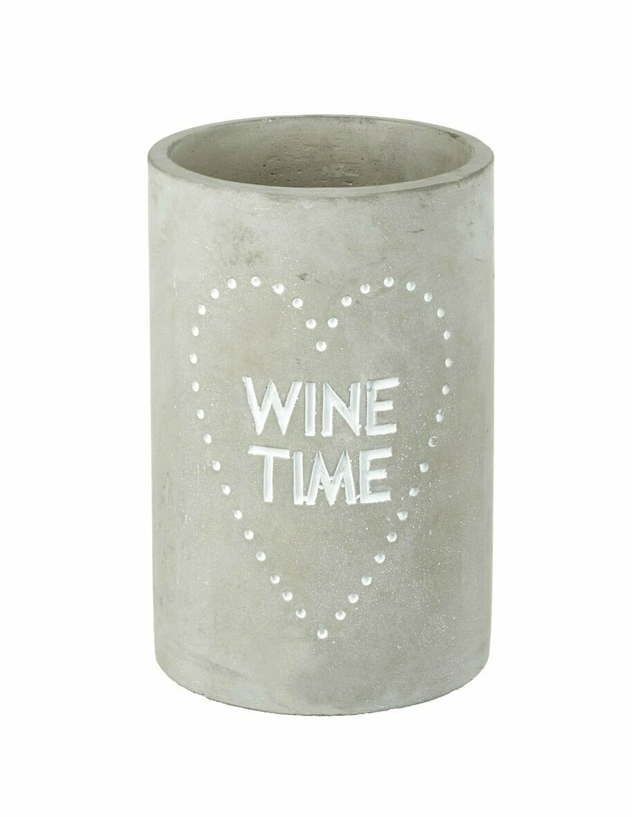 'WINE TIME' Concrete cooler