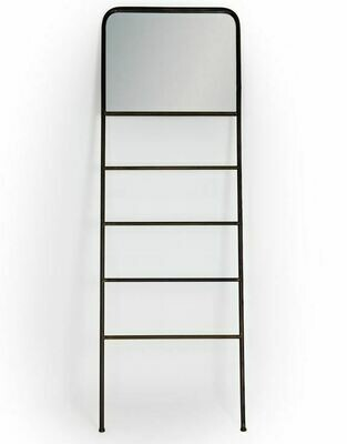 Industrial Leaning Mirror with shelves