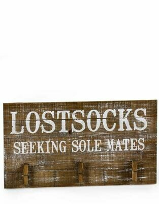 Lost Socks Seeking Sole Mates - hanging sign
