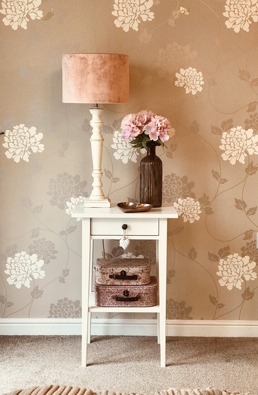 30 cm Drum Lamp shade - Blush Pink Velvet