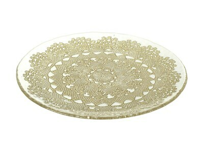 Gold doily plate - 41cm