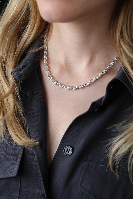 Frame necklace Silver