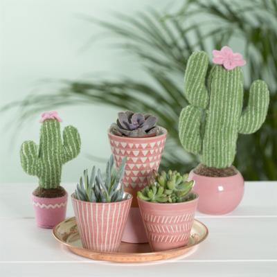 mini Pink Planters - Set of 3
