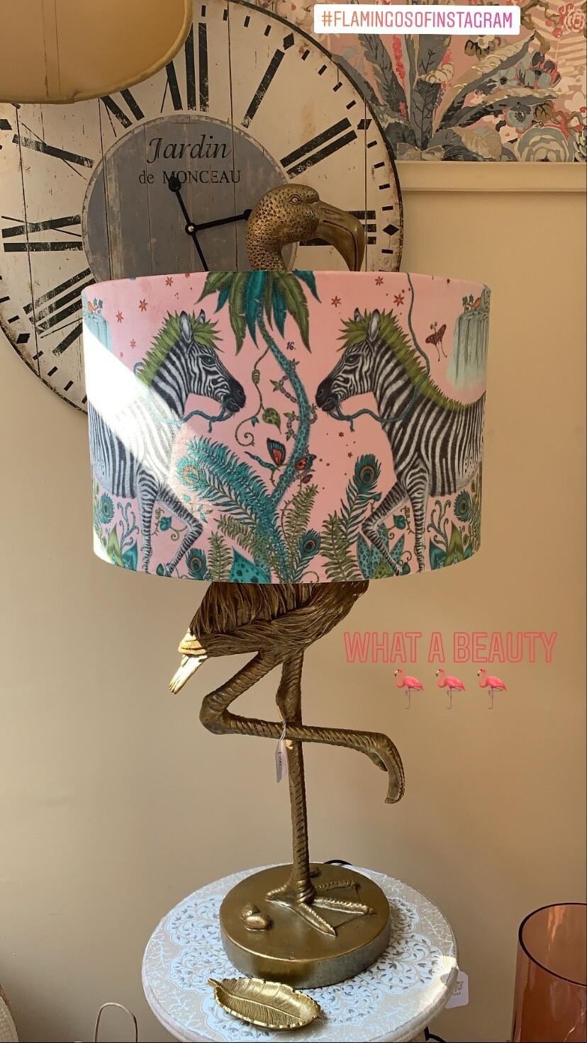 Pink Velvet Zebra LampShade